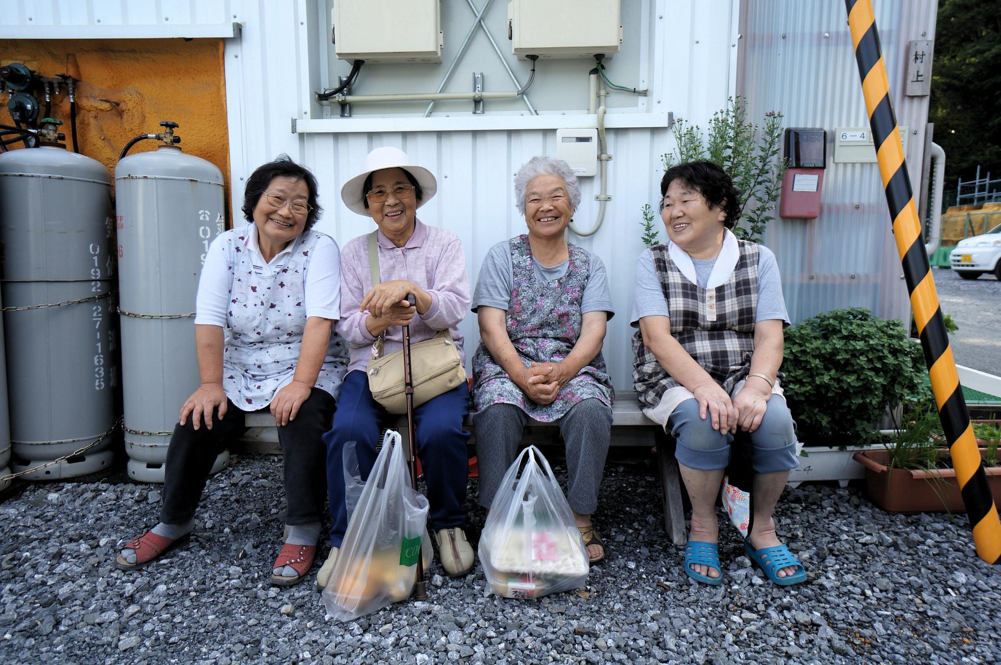 an image of japanese elderly women