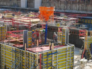 a picture of construction workers on site