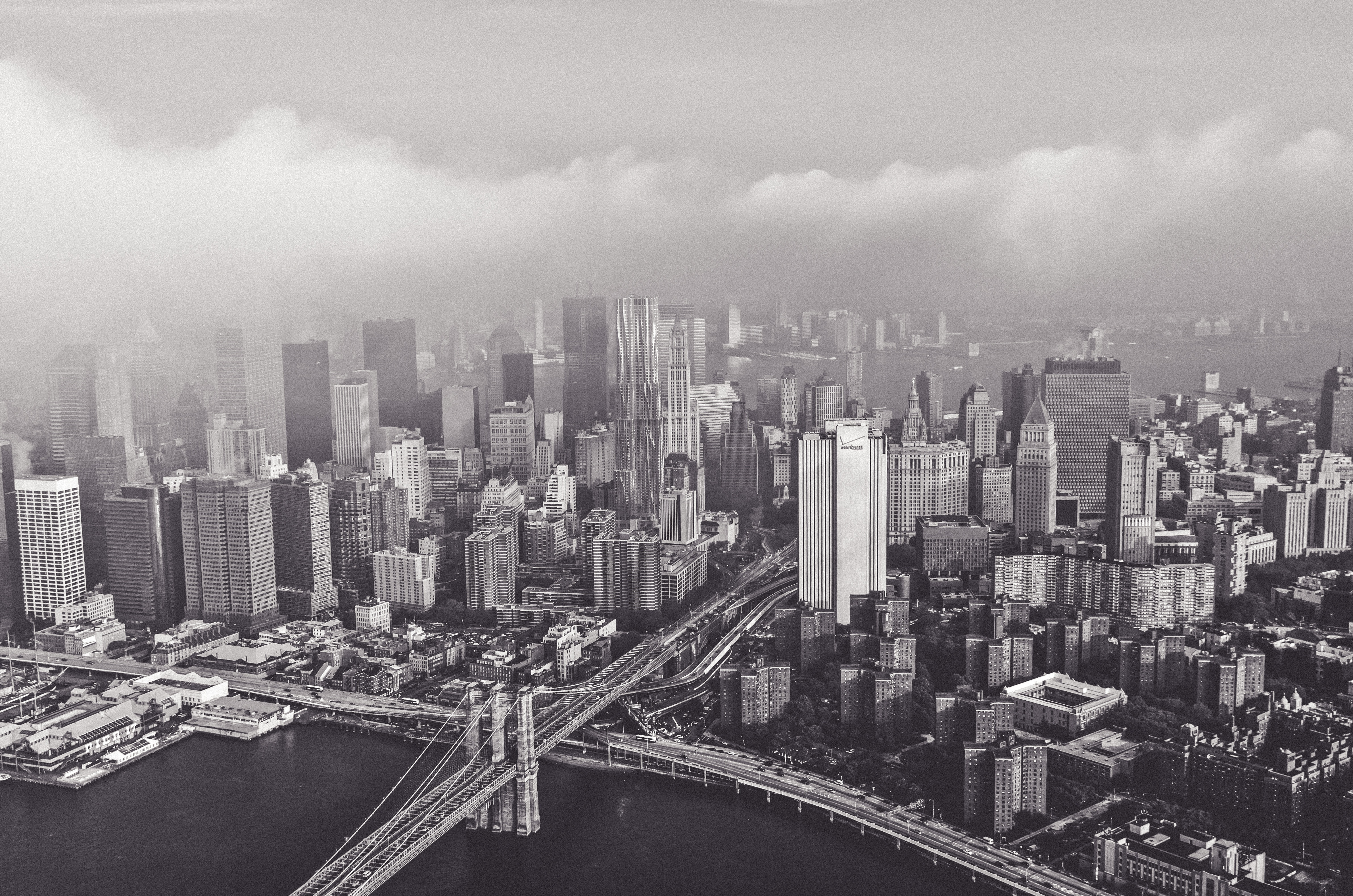 an image of new york in black and white