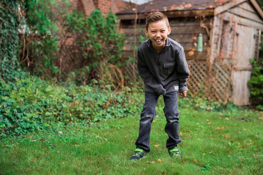 an image of a child laughing