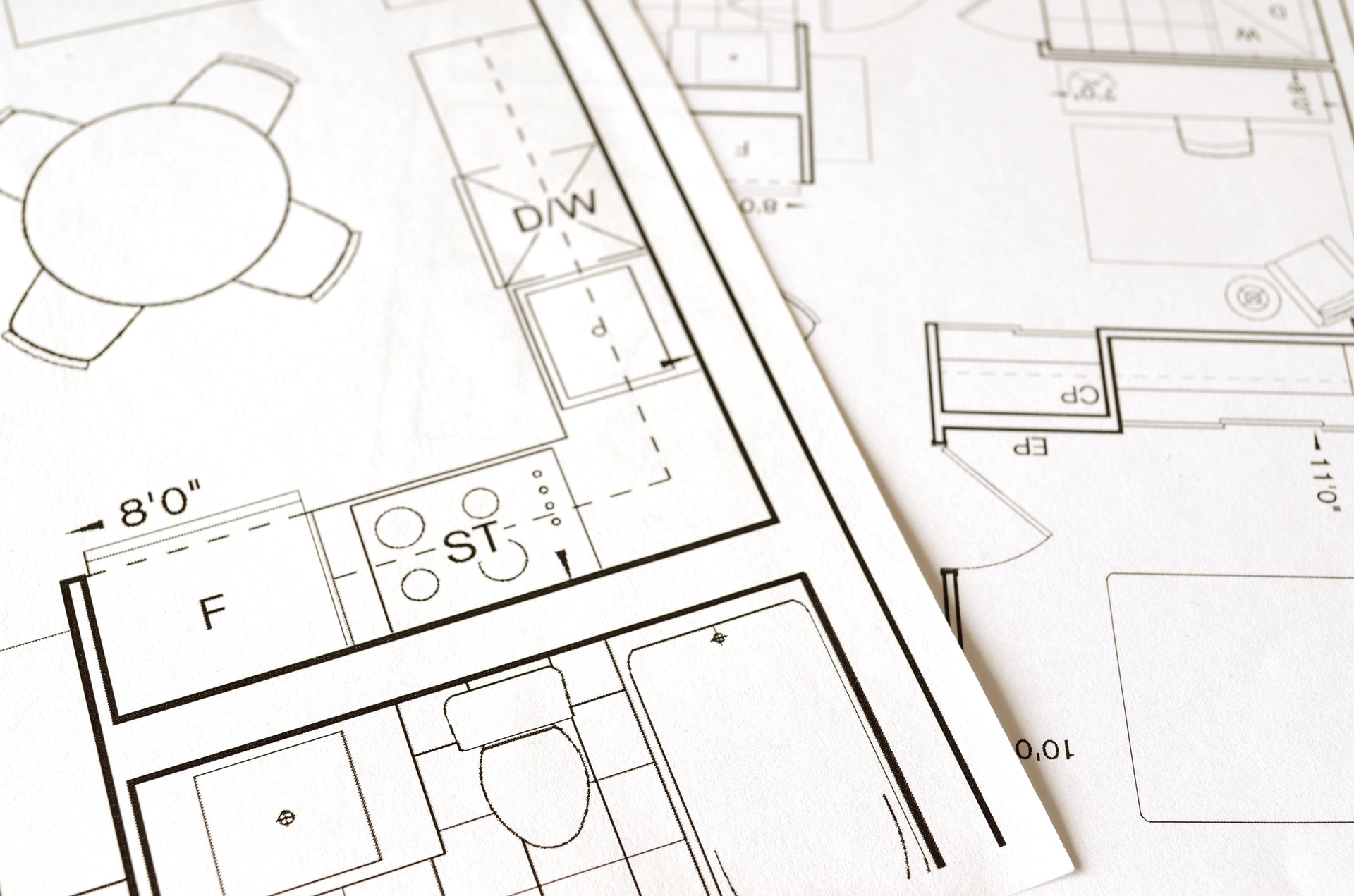 an image of construction plans
