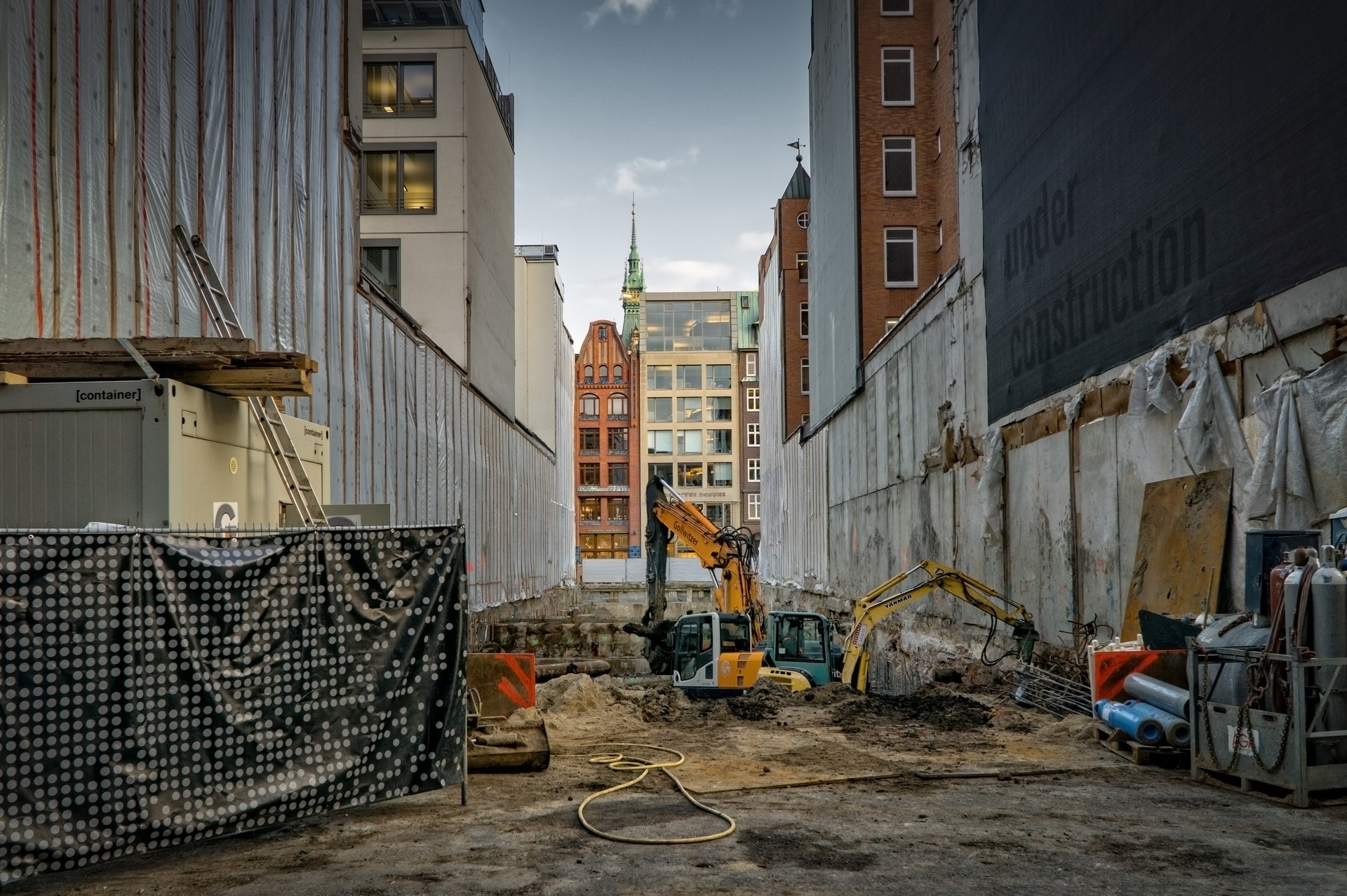 an image of an empty construction site