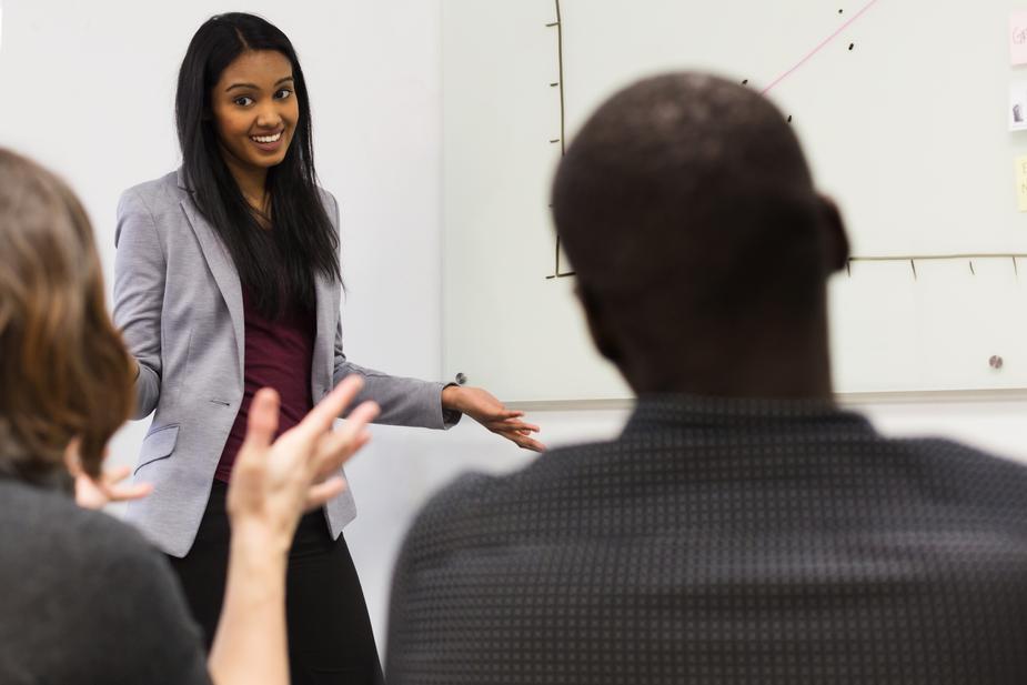 an image of woman teaching